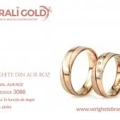 Verighete din aur roz - Cod Produs: 3088
