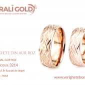 Verighete din aur roz - Cod Produs: 3214