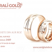 Verighete din aur roz - Cod Produs: 3489