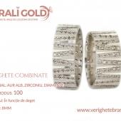 Verighete din aur bicolor, tricolor, sau cu piatră - Cod Produs: 100