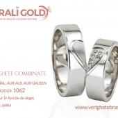 Verighete din aur bicolor, tricolor, sau cu piatră - Cod Produs: 1062