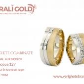 Verighete din aur bicolor, tricolor, sau cu piatră - Cod Produs: 127