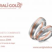 Verighete din aur bicolor, tricolor, sau cu piatră - Cod Produs: 2344