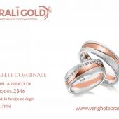 Verighete din aur bicolor, tricolor, sau cu piatră - Cod Produs: 2346