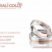 Verighete din aur bicolor, tricolor, sau cu piatră - Cod Produs: 2347