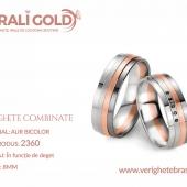 Verighete din aur bicolor, tricolor, sau cu piatră - Cod Produs: 2360