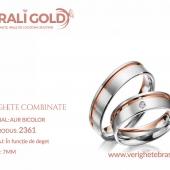 Verighete din aur bicolor, tricolor, sau cu piatră - Cod Produs: 2361