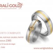 Verighete din aur bicolor, tricolor, sau cu piatră - Cod Produs: 2385