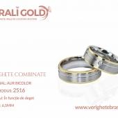 Verighete din aur bicolor, tricolor, sau cu piatră - Cod Produs: 2516