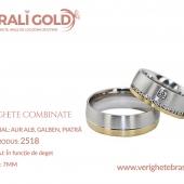 Verighete din aur bicolor, tricolor, sau cu piatră - Cod Produs: 2518