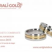Verighete din aur bicolor, tricolor, sau cu piatră - Cod Produs: 2615