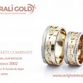 Verighete din aur bicolor, tricolor, sau cu piatră - Cod Produs: 3002