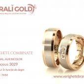 Verighete din aur bicolor, tricolor, sau cu piatră - Cod Produs: 3029