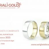Verighete din aur bicolor, tricolor, sau cu piatră - Cod Produs: 3035