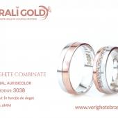 Verighete din aur bicolor, tricolor, sau cu piatră - Cod Produs: 3038