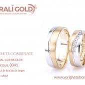 Verighete din aur bicolor, tricolor, sau cu piatră - Cod Produs: 3041