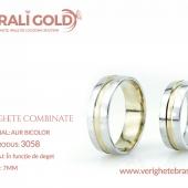 Verighete din aur bicolor, tricolor, sau cu piatră - Cod Produs: 3058
