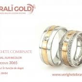 Verighete din aur bicolor, tricolor, sau cu piatră - Cod Produs: 3065