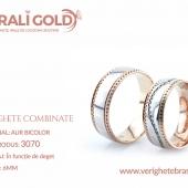 Verighete din aur bicolor, tricolor, sau cu piatră - Cod Produs: 3070