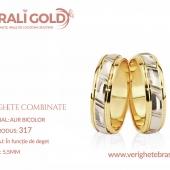 Verighete din aur bicolor, tricolor, sau cu piatră - Cod Produs: 317
