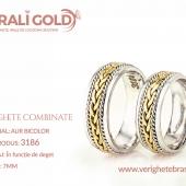 Verighete din aur bicolor, tricolor, sau cu piatră - Cod Produs: 3186