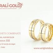 Verighete din aur bicolor, tricolor, sau cu piatră - Cod Produs: 332