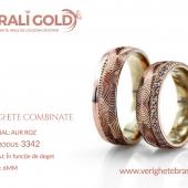 Verighete din aur bicolor, tricolor, sau cu piatră - Cod Produs: 3342