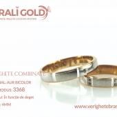 Verighete din aur bicolor, tricolor, sau cu piatră - Cod Produs: 3368