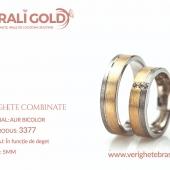 Verighete din aur bicolor, tricolor, sau cu piatră - Cod Produs: 3377