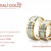 Verighete din aur bicolor, tricolor, sau cu piatră - Cod Produs: 3468