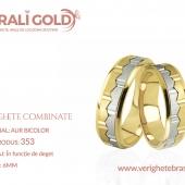 Verighete din aur bicolor, tricolor, sau cu piatră - Cod Produs: 353