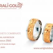Verighete din aur bicolor, tricolor, sau cu piatră - Cod Produs: 3561