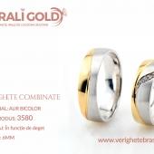 Verighete din aur bicolor, tricolor, sau cu piatră - Cod Produs: 3580