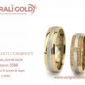 Verighete din aur bicolor, tricolor, sau cu piatră - Cod Produs: 3588