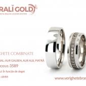 Verighete din aur bicolor, tricolor, sau cu piatră - Cod Produs: 3589