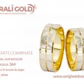 Verighete din aur bicolor, tricolor, sau cu piatră - Cod Produs: 364