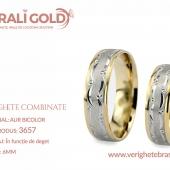 Verighete din aur bicolor, tricolor, sau cu piatră - Cod Produs: 3657