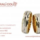Verighete din aur bicolor, tricolor, sau cu piatră - Cod Produs: 402