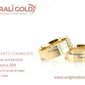 Verighete din aur bicolor, tricolor, sau cu piatră - Cod Produs: 554