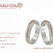 Verighete din aur bicolor, tricolor, sau cu piatră - Cod Produs: 7