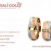 Verighete din aur bicolor, tricolor, sau cu piatră - Cod Produs: 935