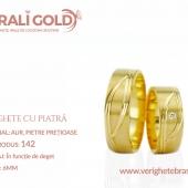 Verighete din aur cu piatră - Cod Produs: 142