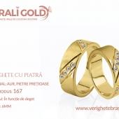 Verighete din aur cu piatră - Cod Produs: 167