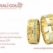 Verighete din aur cu piatră - Cod Produs: 179