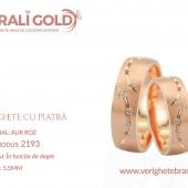 Verighete din aur cu piatră - Cod Produs: 2193
