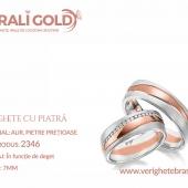 Verighete din aur cu piatră - Cod Produs: 2346