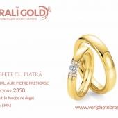 Verighete din aur cu piatră - Cod Produs: 2350