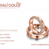 Verighete din aur cu piatră - Cod Produs: 2356