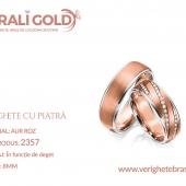 Verighete din aur cu piatră - Cod Produs: 2357