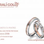 Verighete din aur cu piatră - Cod Produs: 2358